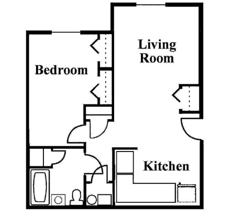 1 Bedroom Cottage Floor Plans the difference between a mini flat and self contained