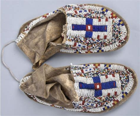 beaded american moccasins vintage american beaded moccasins