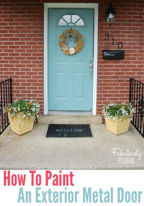 painting exterior metal door the 25 best painting metal doors ideas on diy