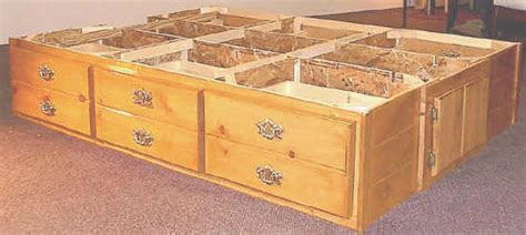 pedestal bed frame with drawers awesome diy king bed frame plans homekeep xyz