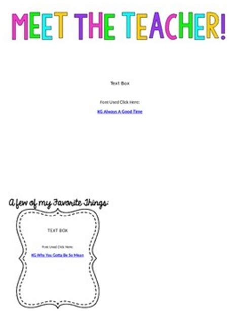 editable meet the teacher letter template freebie by