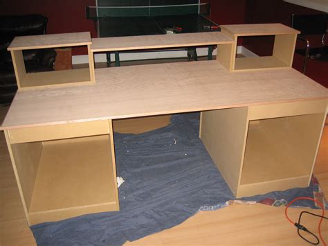 studio desk build build a studio desk plans woodworking projects