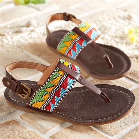 beaded sandals maasai beaded arrow sandals national geographic store