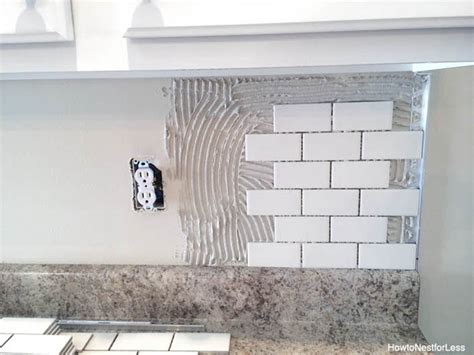how to install glass tile kitchen backsplash how to install a backsplash the budget decorator