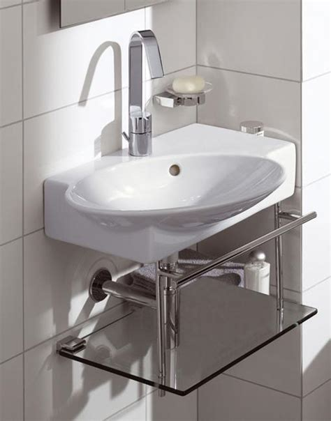 kitchen sink tub corner bathroom sinks creating space saving modern