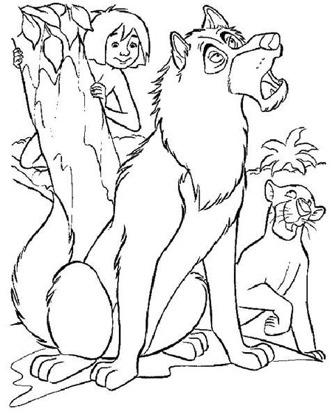 jungle book pictures to colour junglebook coloring pages coloringpages1001