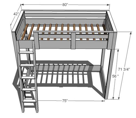 diy loft bed with stairs plans quick woodworking projects