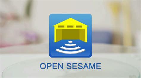 open sesame universal phone smartphone remote garage door opener app