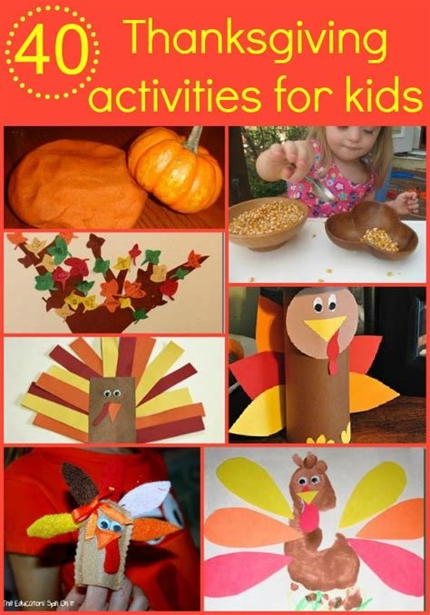crafts for thanksgiving for 40 thanksgiving activities for