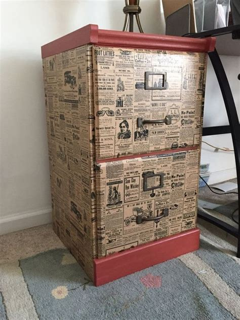 decoupage furniture with wrapping paper 17 best ideas about vintage file cabinet on