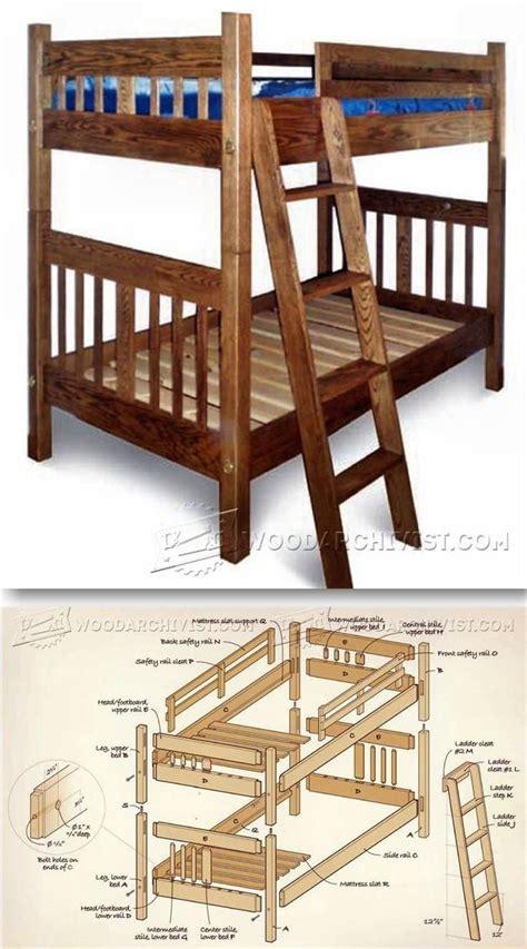 childrens bunk bed plans best 25 bunk bed plans ideas on