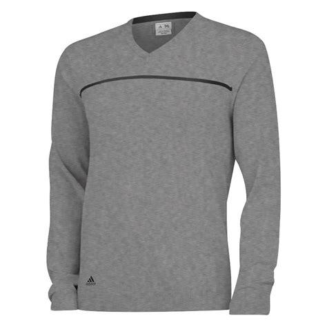 New Adidas Golf V Neck Rib Knit Sweater 3 Stripes