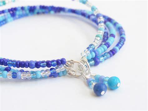 blue beaded bracelet blue beaded bracelet seed bead bracelet by handmadeintoronto