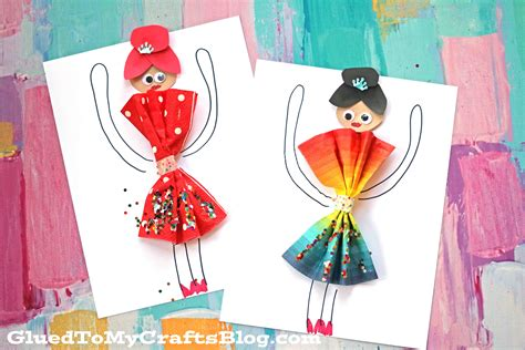 craft ideas with paper napkins paper napkin dress ballerinas kid craft glued to my crafts