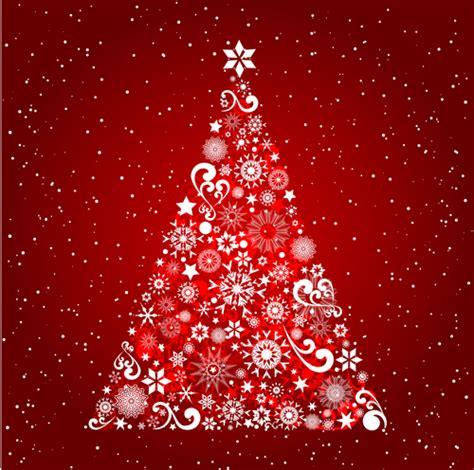 roter weihnachtsbaum tree background ai format free vector