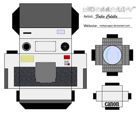 canon printable paper crafts canon cubeecraft by melopruppo on deviantart