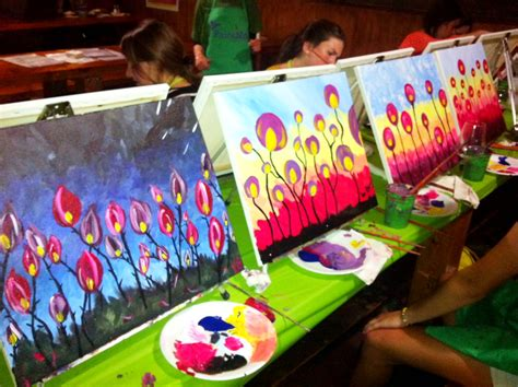 paint nite with paint with cristina powell human services program