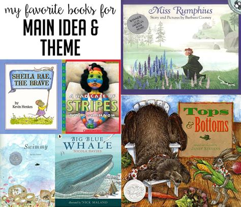 teaching theme with picture books books to teach idea and theme susan jones