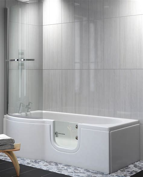 walk in baths with shower satin p shape walk in shower bath practical bathing