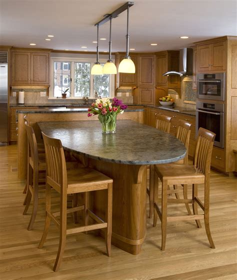 kitchen island table with chairs fabulous all cherry wooden kitchen design featuring l shaped cabinet and rectangle island