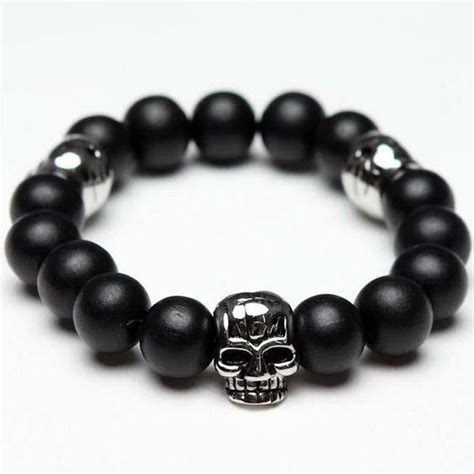 mens beaded skull bracelets skull beaded bracelet this saw the of monsters and