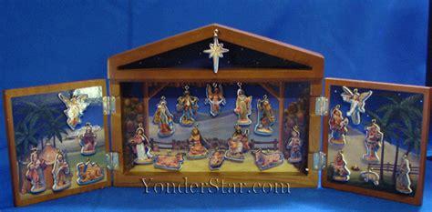 fontini nativity fontanini wooden advent calendar fontanini advent