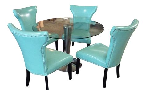turquoise dining set retro turquoise dining set with nailhead trim chairish