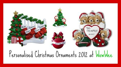 personalised decorations family personalised tree decorations
