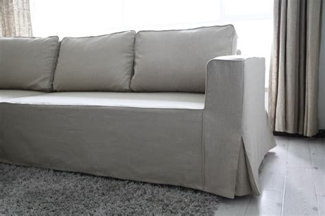 fitted slipcovers for sofas fit linen manstad sofa slipcovers now available