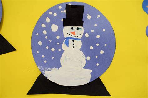 paper snow globe craft mrs ricca s kindergarten snow globe craft
