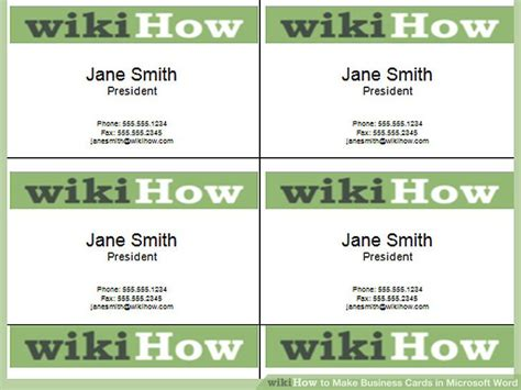 how to make a business card in microsoft word how to make business cards in microsoft word with pictures