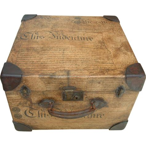 antique decoupage antique decoupage small trunk from