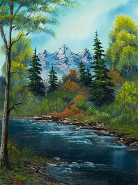 bob ross painting grass 40 simple and easy landscape painting ideas