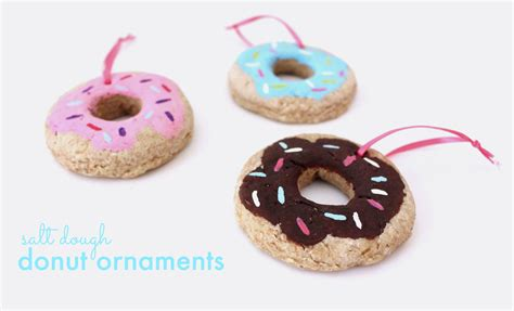diy salt dough ornaments salt dough donut ornaments kassandra dekoning