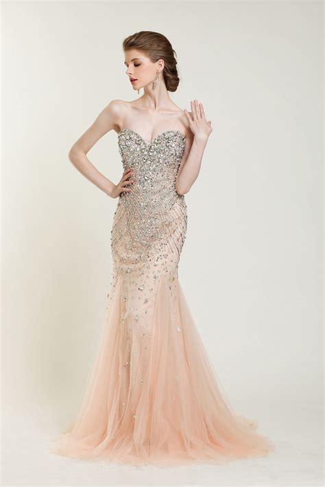 fully beaded prom dresses custom 2014 new luxury chagne fully manual beaded