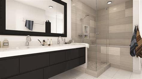 modern bathroom remodels two modern bathroom remodels