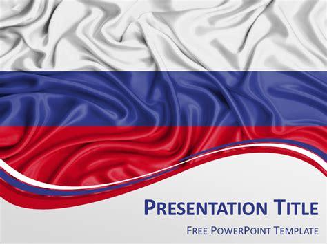 russia flag powerpoint template presentationgo com