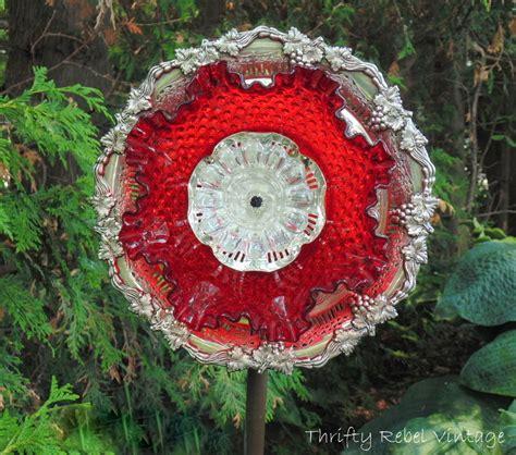 flower plate garden how to make a garden dish flower thrifty rebel vintage