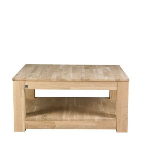 table basse carree bois massif valdiz