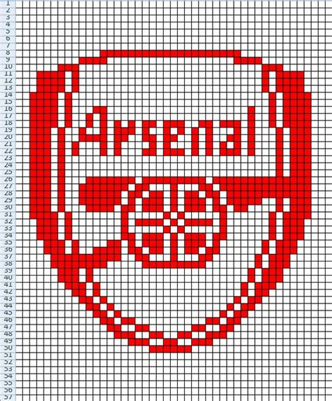 liverpool knitting patterns arsenal fc chart for knitting cross stitch etc