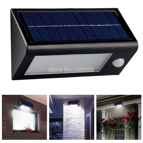 solar power outdoor light bright 32 led solar powered motion sensor wall l