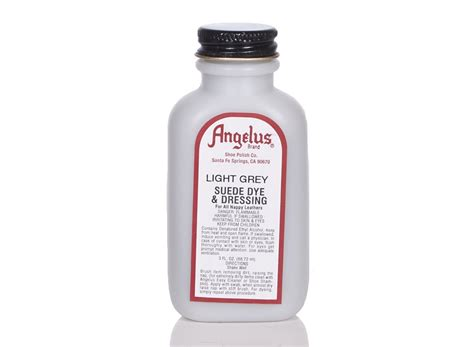 angelus paint suppliers angelus dyes paint light grey 3oz suede dye leather