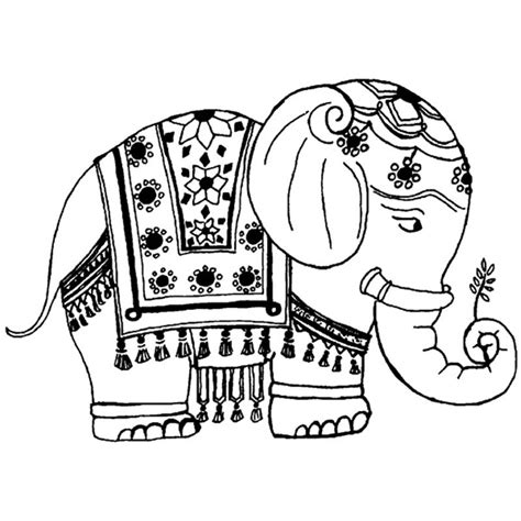 elephant rubber st free coloring pages