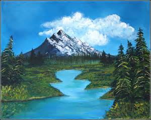 acrylic painting mountains nature canvas tales by ankita ghosh