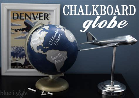 chalkboard globe diy diy with style worth a second look most popular diy