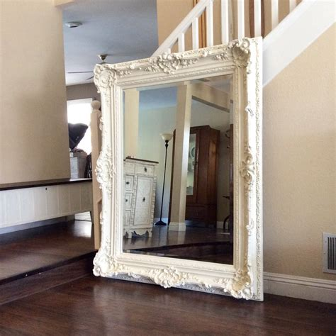 large shabby chic mirror white gorgeous ornate mirror for sale large white mirror