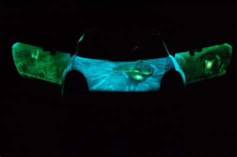 glow in the paint on a car carzspot glow in car