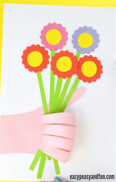 handprint craft for handprint flower bouquet craft s day idea easy