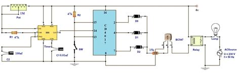 electric timer adjustable timer circuit diagram with relay output