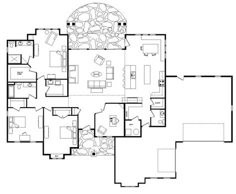 single story floor plans single story open floor plans open floor plans one level